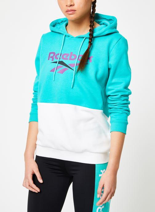 Vêtements Reebok CL V P Hoodie Bleu vue droite