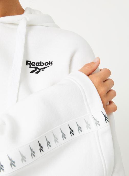 Vêtements Reebok CL V P Hoodie Blanc vue face