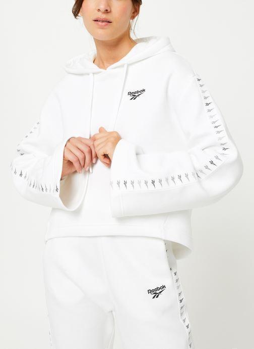 Vêtements Reebok CL V P Hoodie Blanc vue droite