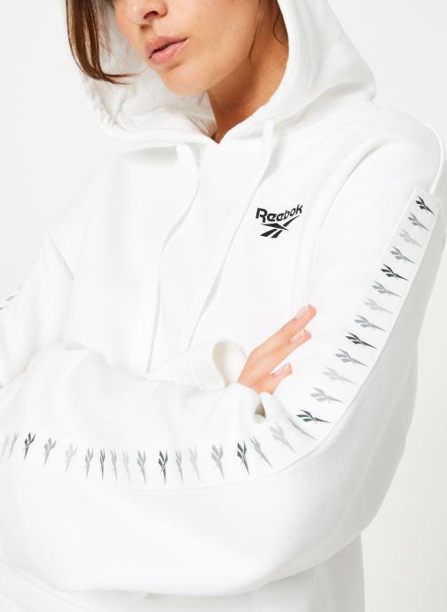 Vêtements Reebok CL V P Hoodie Blanc vue détail/paire