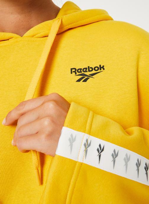 Vêtements Reebok CL V P Hoodie Jaune vue face
