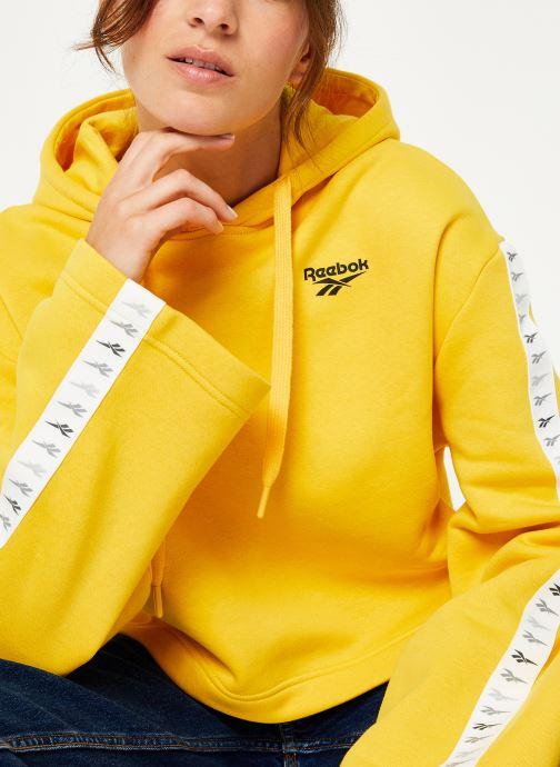 Vêtements Reebok CL V P Hoodie Jaune vue détail/paire