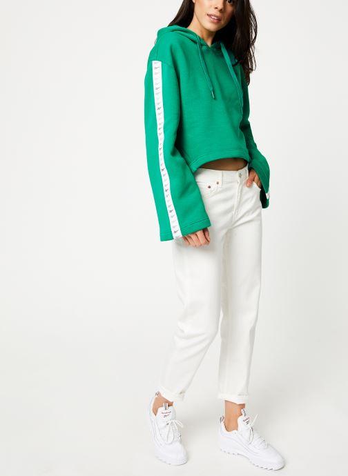 Vêtements Reebok CL V P Hoodie Vert vue bas / vue portée sac