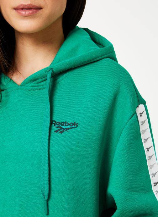 Vêtements Reebok CL V P Hoodie Vert vue face