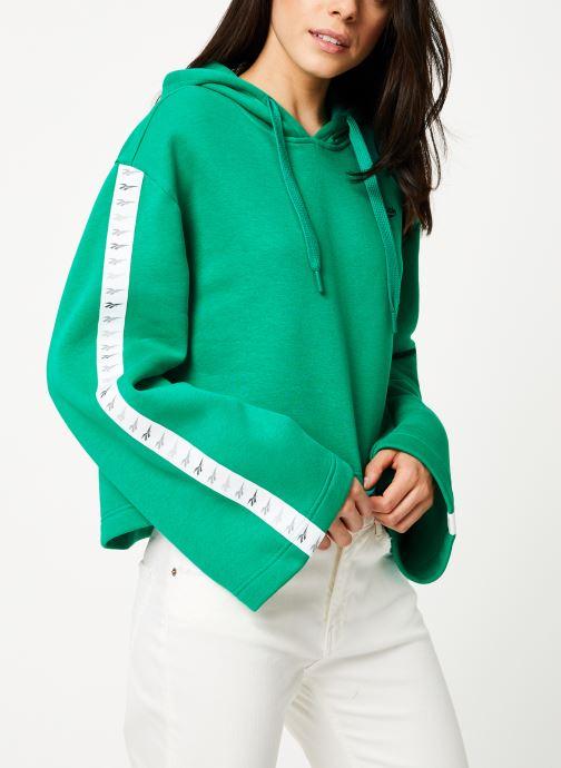 Vêtements Reebok CL V P Hoodie Vert vue droite