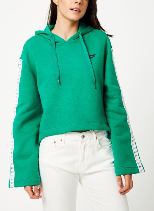 Vêtements Reebok CL V P Hoodie Vert vue détail/paire