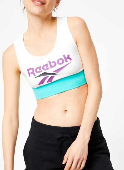 Vêtements Reebok CL V P Bra Blanc vue détail/paire