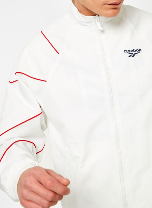 Vêtements Reebok CL V P Trackjacket Blanc vue face