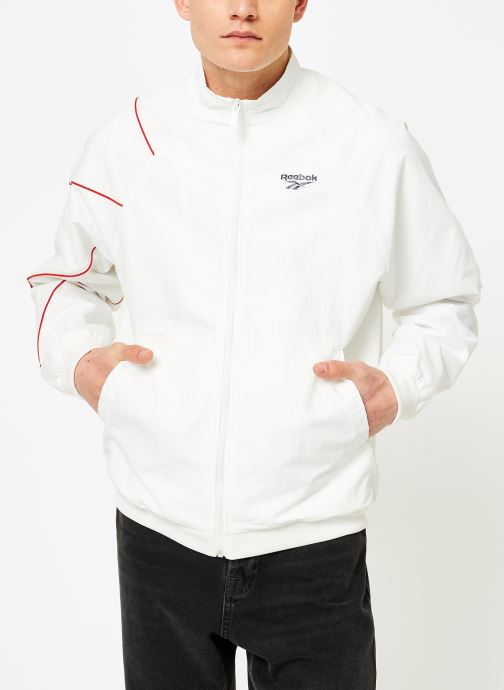 Vêtements Reebok CL V P Trackjacket Blanc vue droite