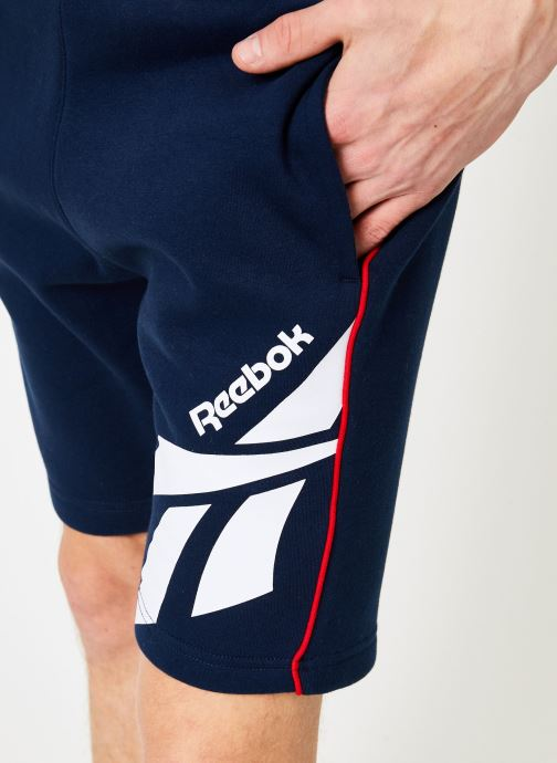 Vêtements Reebok CL V P FL Shorts Bleu vue face