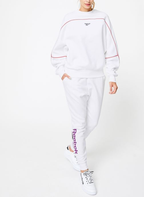 Vêtements Reebok CL V P Crew Logo Blanc vue bas / vue portée sac