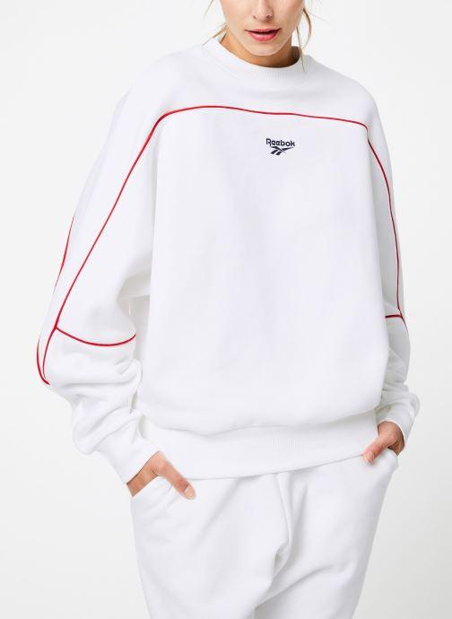 Vêtements Reebok CL V P Crew Logo Blanc vue droite