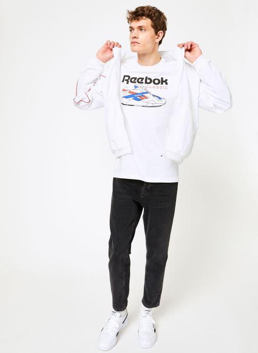 Kleding Reebok CL T-Shirts Wit onder