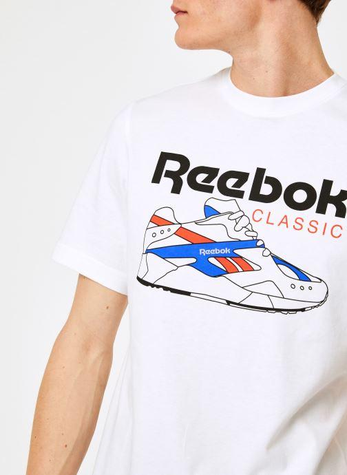 Kleding Reebok CL T-Shirts Wit voorkant
