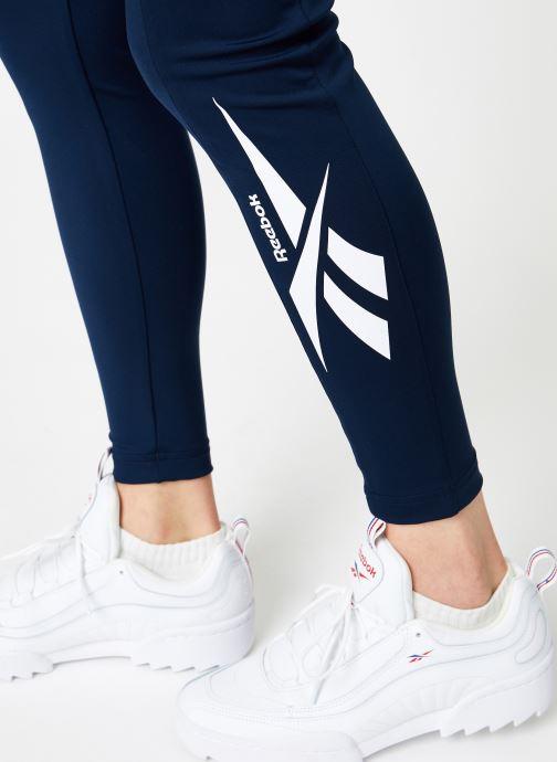 Vêtements Reebok CL V P Legging Version Bleu vue face