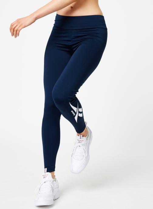 Vêtements Reebok CL V P Legging Version Bleu vue détail/paire
