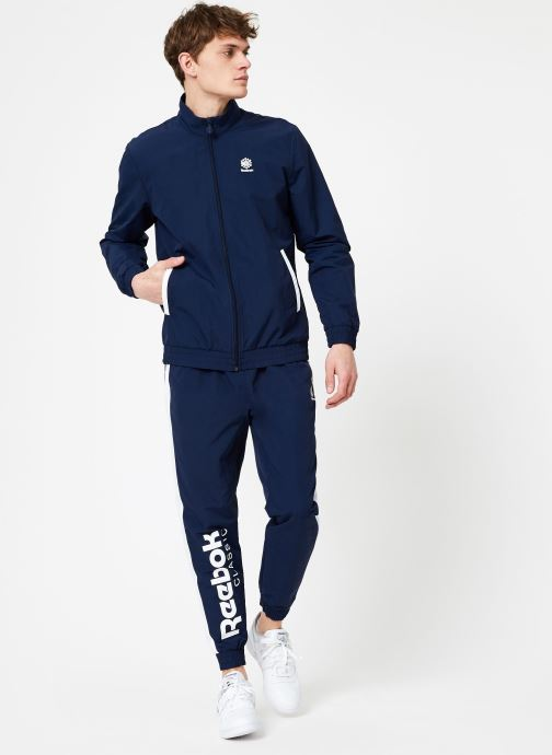 Vêtements Reebok CL Track Pant Bleu vue bas / vue portée sac