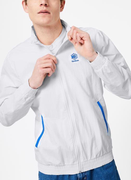 Vêtements Reebok CL Track Top Blanc vue droite