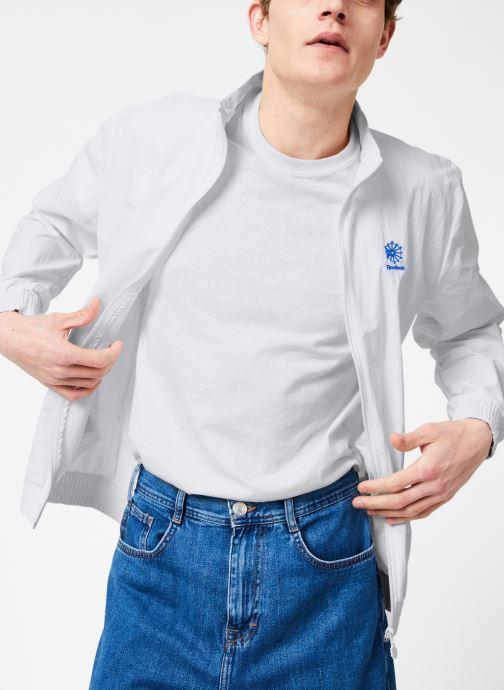 Vêtements Reebok CL Track Top Blanc vue détail/paire