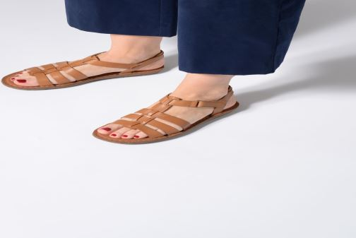 Sandals Clarks BLAKE JEWEL Brown view from underneath / model view