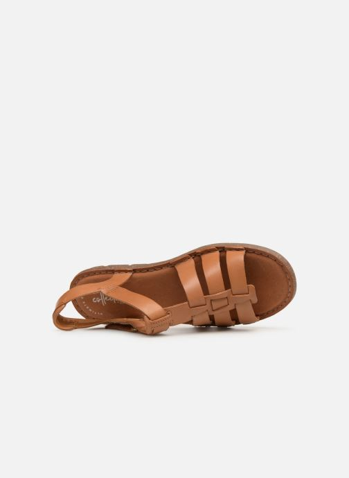 Sandals Clarks BLAKE JEWEL Brown view from the left