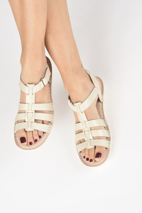 Sandales et nu-pieds Clarks BLAKE JEWEL Blanc vue bas / vue portée sac