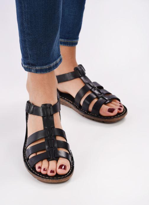 Sandales et nu-pieds Clarks BLAKE JEWEL Noir vue bas / vue portée sac