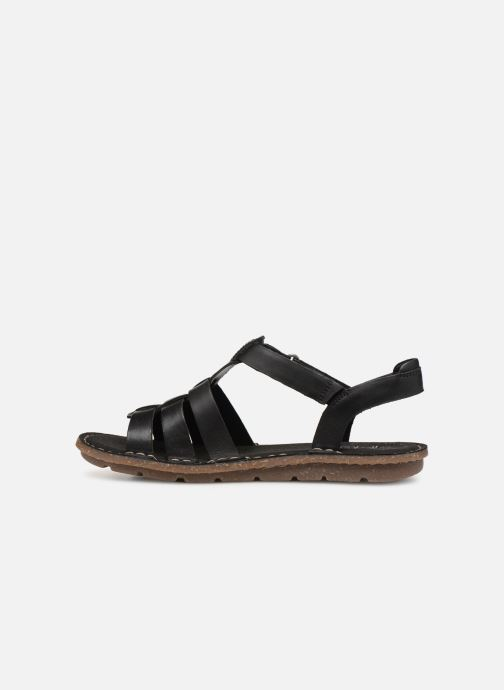 Sandals Clarks BLAKE JEWEL Black front view