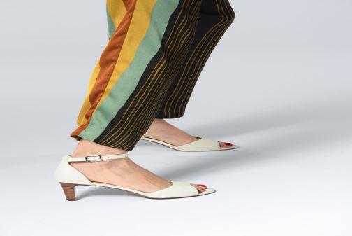 Sandalen Clarks LAURETI GRACE schwarz ansicht von unten / tasche getragen