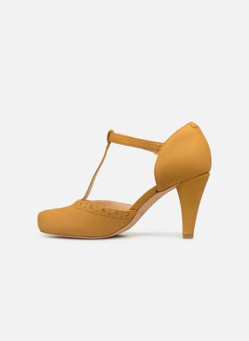 High heels Clarks DALIA LEAH Yellow front view
