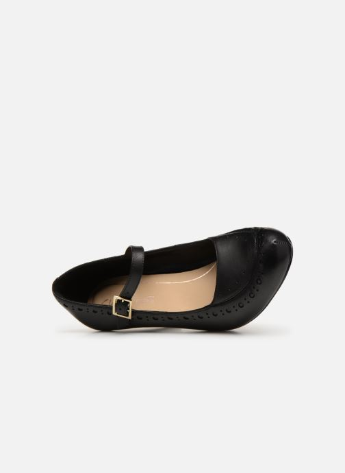 High heels Clarks DALIA MILLIE Black view from the left