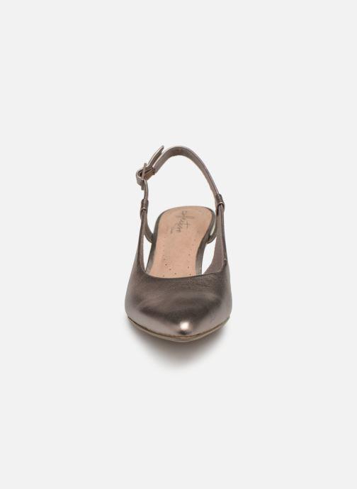 Escarpins Clarks LINVALE LOOP Or et bronze vue portées chaussures