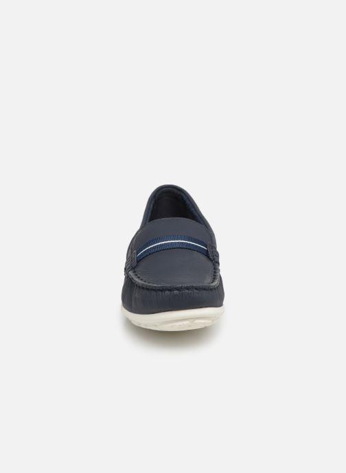 Mocassins Clarks DAMEO VINE Bleu vue portées chaussures