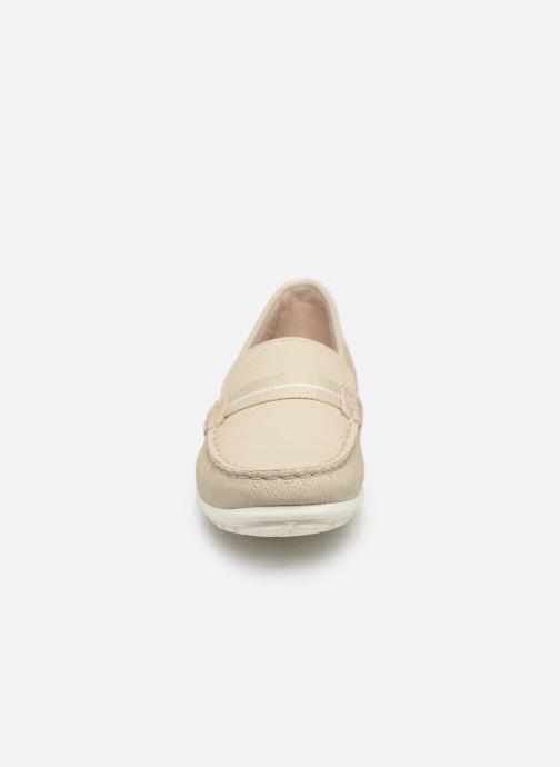 Mocassins Clarks DAMEO VINE Blanc vue portées chaussures