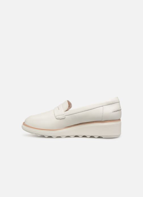 Mocassins Clarks SHARON RANCH Blanc vue face