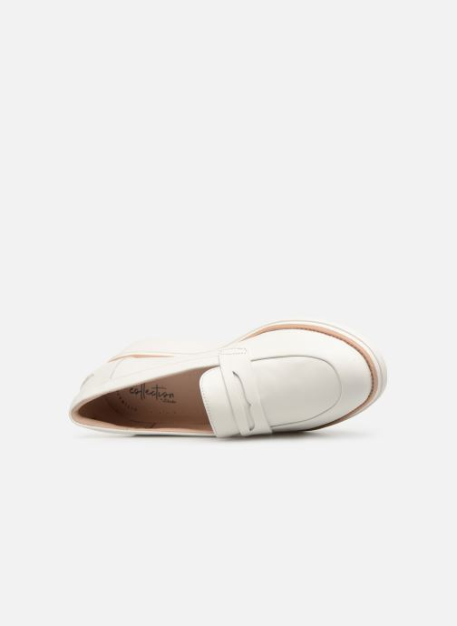 Mocassins Clarks SHARON RANCH Blanc vue gauche