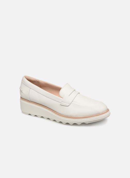 Loafers Clarks SHARON RANCH White detailed view/ Pair view