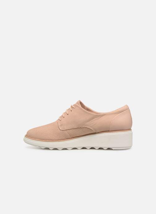 Zapatos con cordones Clarks SHARON CRYSTAL Beige vista de frente