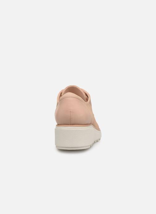 Zapatos con cordones Clarks SHARON CRYSTAL Beige vista lateral derecha