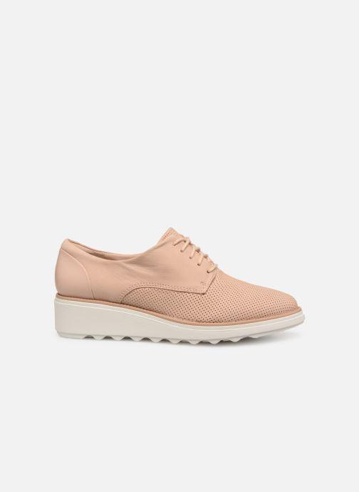 Chaussures à lacets Clarks SHARON CRYSTAL Beige vue derrière