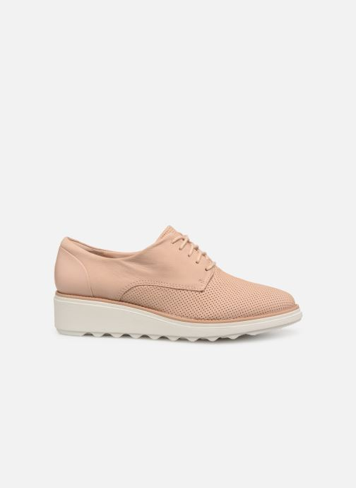 Zapatos con cordones Clarks SHARON CRYSTAL Beige vistra trasera