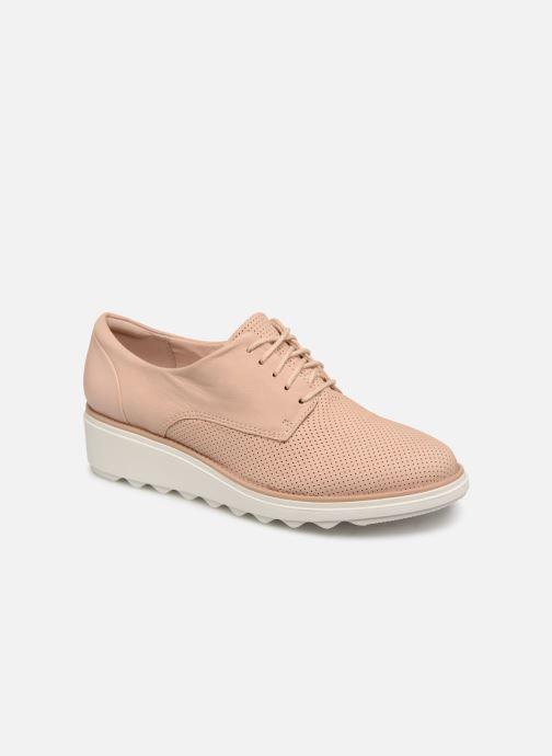 Zapatos con cordones Clarks SHARON CRYSTAL Beige vista de detalle / par