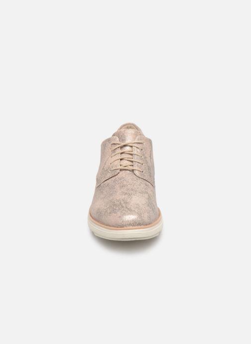 Chaussures à lacets Clarks SHARON CRYSTAL Argent vue portées chaussures