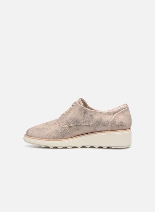 Zapatos con cordones Clarks SHARON CRYSTAL Plateado vista de frente