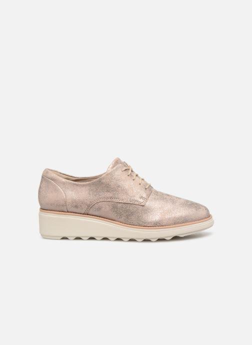 Zapatos con cordones Clarks SHARON CRYSTAL Plateado vistra trasera