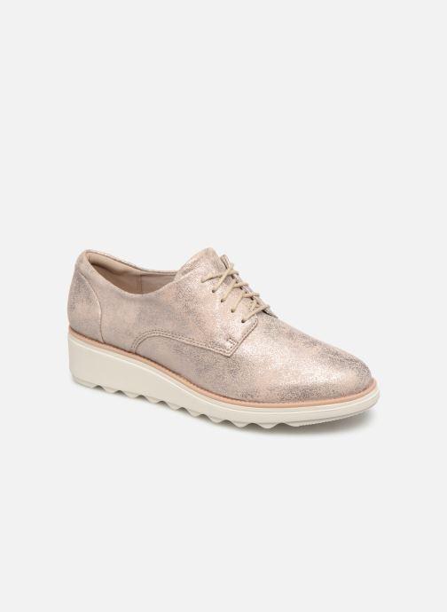 Zapatos con cordones Clarks SHARON CRYSTAL Plateado vista de detalle / par