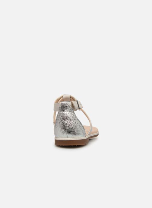 Sandaler Clarks Bay Poppy Sølv Se fra højre