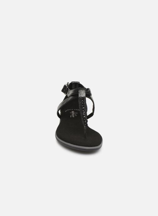 Sandalen Clarks Bay Poppy schwarz schuhe getragen
