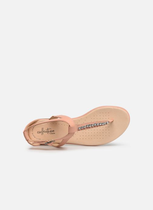 Sandales et nu-pieds Clarks Bay Poppy Rose vue gauche