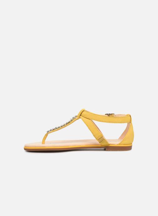 Sandales et nu-pieds Clarks Bay Poppy Jaune vue face
